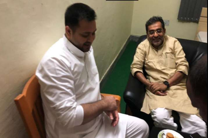RLSP leader Upendra kushwaha meet rjd leader Tejaswi yadav- India TV
