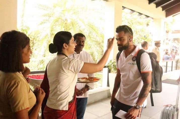 टीम इंडिया का केरल में पारंपरिक अंदाज में स्वागत- India TV