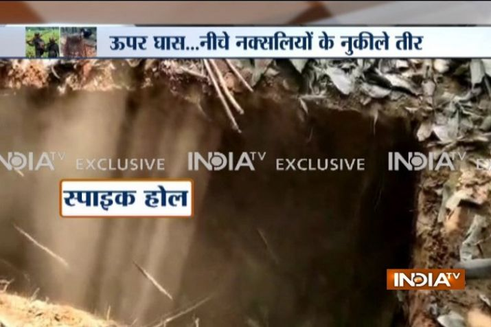 Exclusive: Maoists dig up spike hole traps in poll-bound Chhattisgarh to subvert election process- India TV