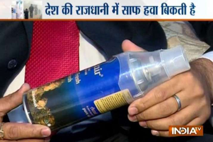 Canned 'pure and clean' air being sold in...- India TV