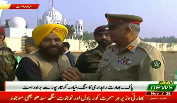 Khalistani terrorist Gopal Chawla seen with Pak Army Chief Qamar Bajwa- India TV