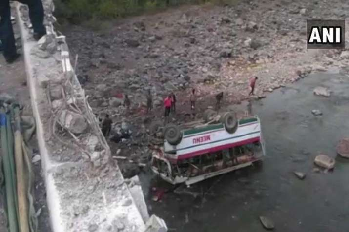9 dead, 25 injured as bus falls into river in...- India TV