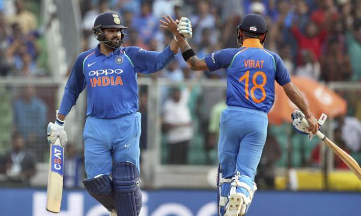 Rohit Sharma and Virat Kohli celebrates Team India's win- India TV