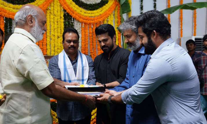 JR NTR, RAM CHARAN, SS RAJAMOULI- India TV