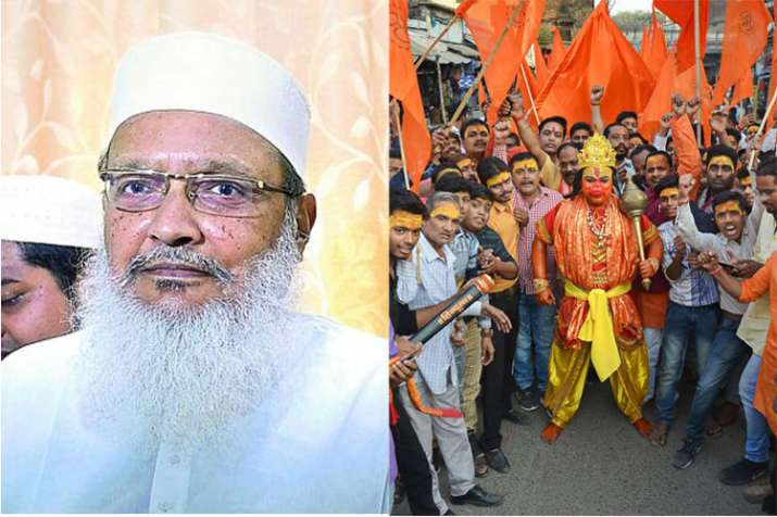 AIMPLB general secretary Maulana Wali Rahmani and Vishwa Hindu Parishad activist in Mirzapur | PTI- India TV