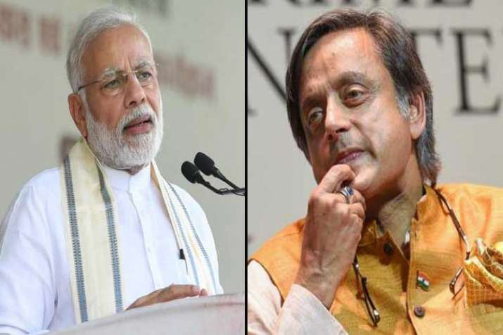 pm modi and shashi tharoor- India TV
