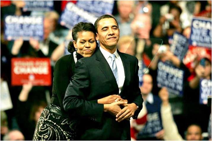 Barack Obama with Michelle Obama- India TV