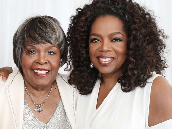 oprah winfrey with mother vernita lee - India TV