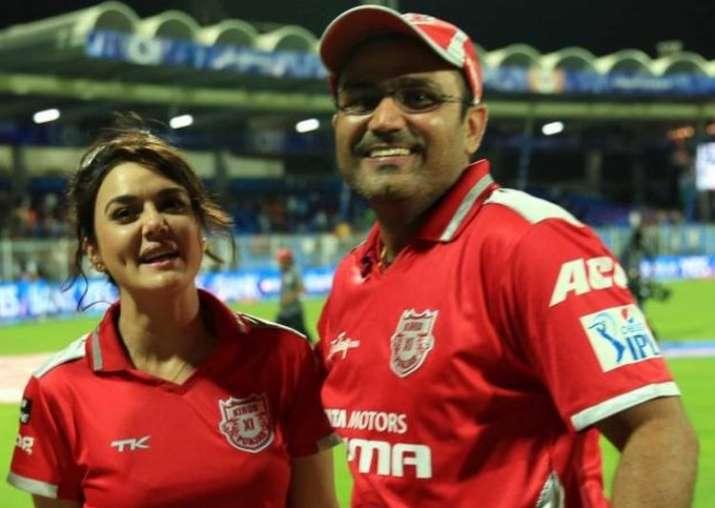 वीरेंद्र सहवाग और प्रीती जिंटा- India TV