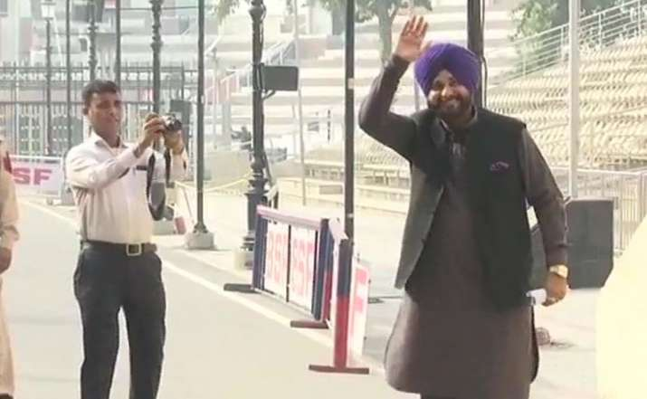 Navjot Singh Sidhu left for Pakistan via Attari-Wagah border- India TV