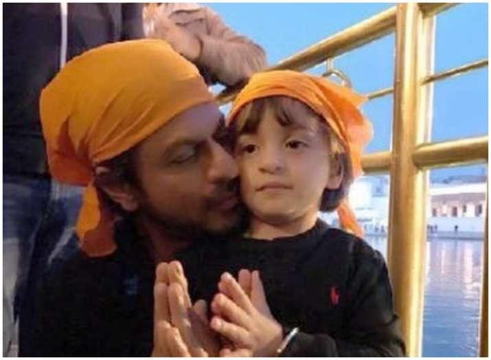 shahrukh khan and abram khan- India TV