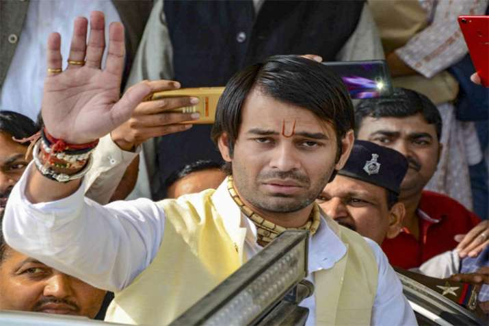 Tej Pratap Yadav leaves after attending the winter session of Bihar Assembly in Patna on Friday- India TV