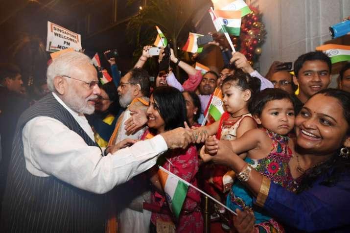 PM Modi in Singapore- India TV