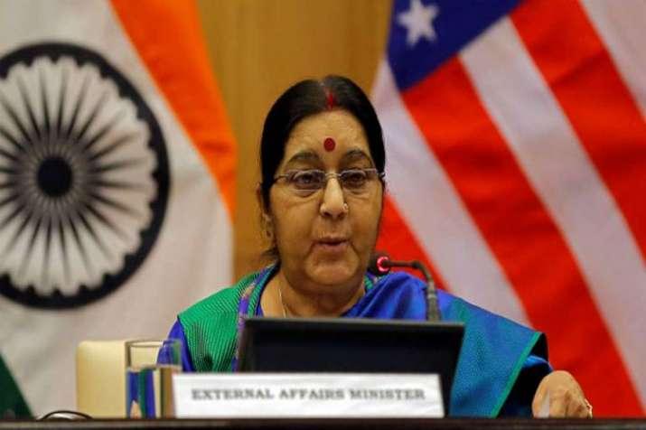 Kartarpur corridor not connected with dialogue with Pakistan says Sushma Swaraj- India TV