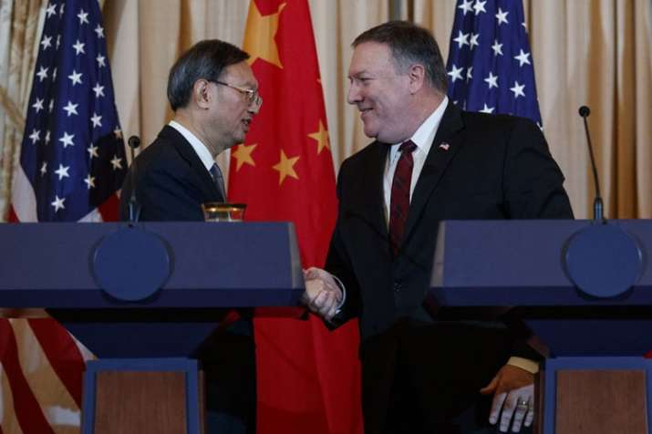 Yang Jiechi and Mike Pompeo | AP Photo- India TV