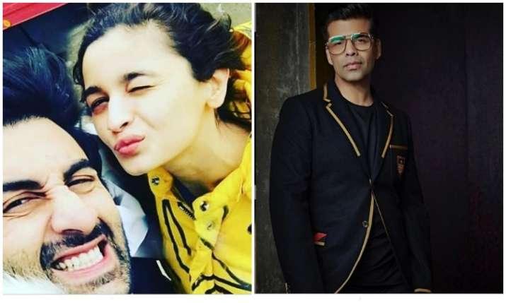 Ranbir, Alia and karan- India TV