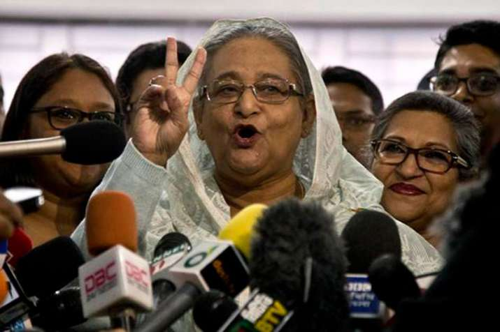 Sheikh Hasina wins Bangladesh elections as opposition rejects polls | AP- India TV