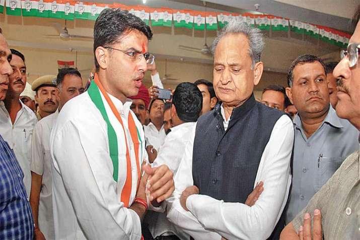 Ashok Gehlot and Sachin Pilot- India TV