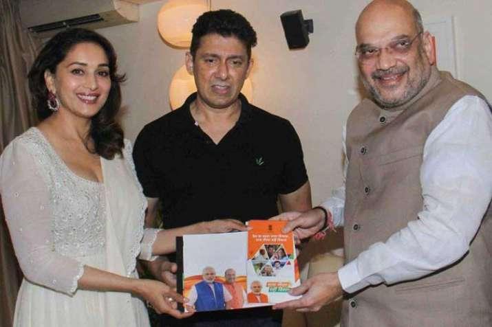 madhuri dixit and amit shah- India TV