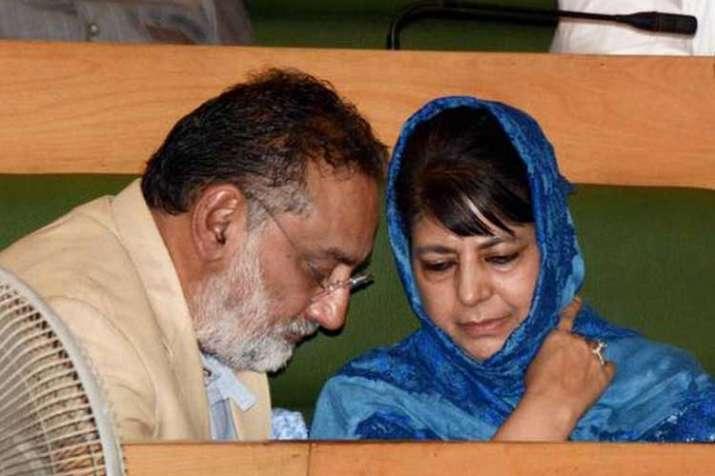 Mehbooba Mufti with Haseeb Drabu (file photo)- India TV
