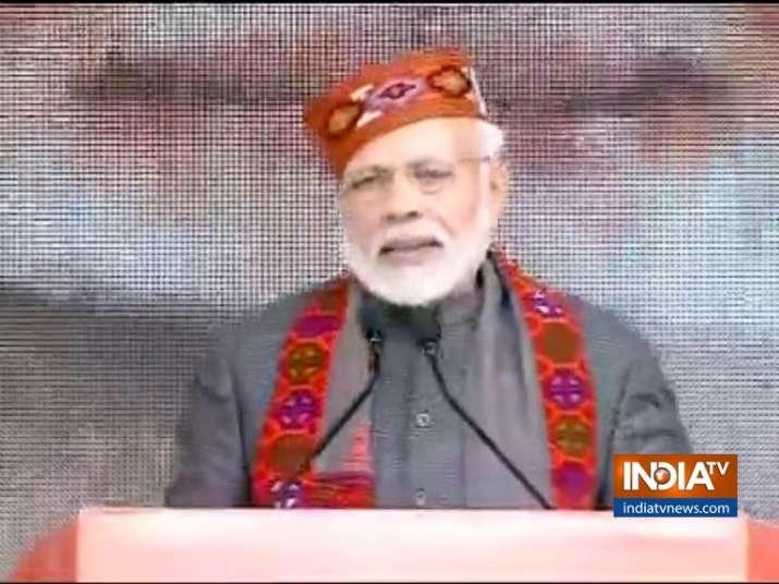 PM Modi in Dharamshala- India TV