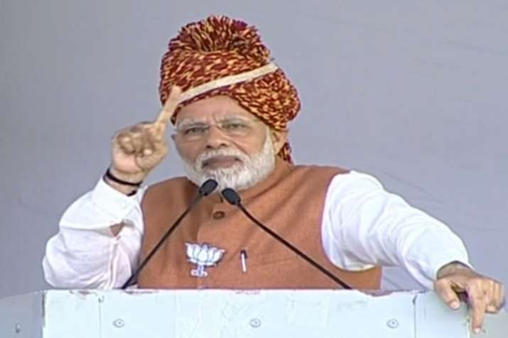 Rajasthan Assembly Elections: PM Narendra Modi imparts a lesson in Hindutva to Rahul Gandhi   Twitte- India TV