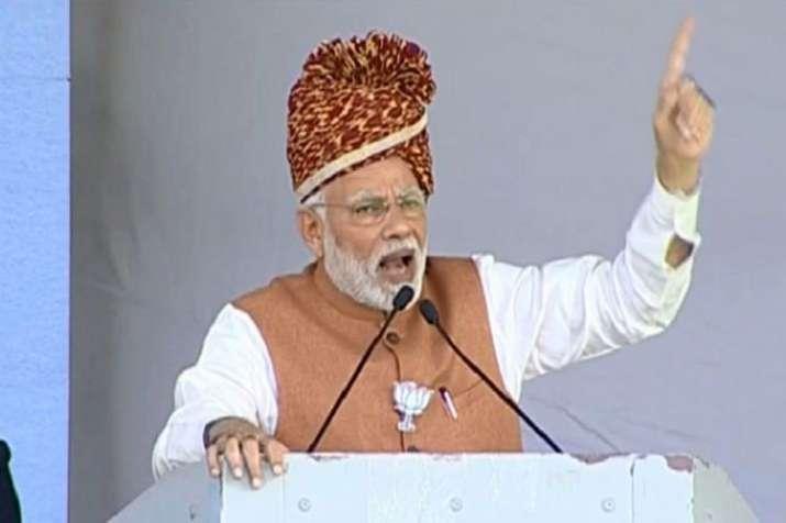 Narendra Modi addressing a rally in Jodhpur- India TV