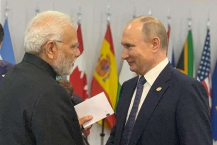 PM Modi interacts with Trump, Putin and May on sidelines of G-20   Twitter- India TV