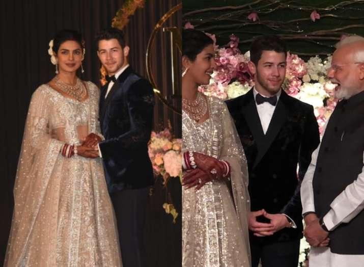 Priyanka chopra and Nick jonas Delhi Reception- India TV