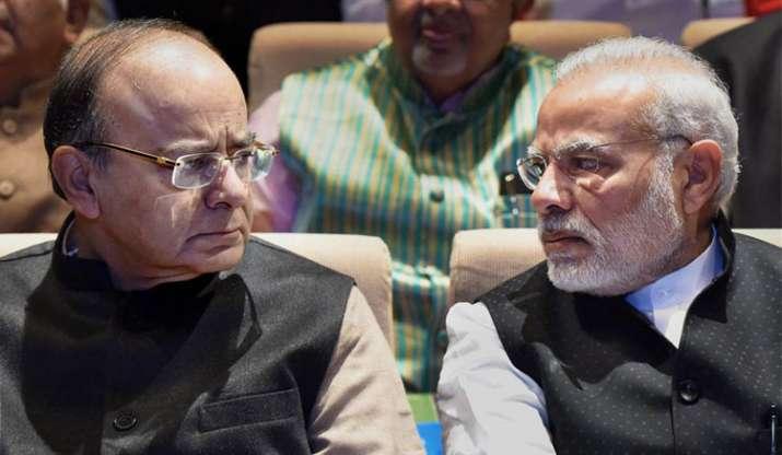 PM Modi with Jaitley- India TV Paisa
