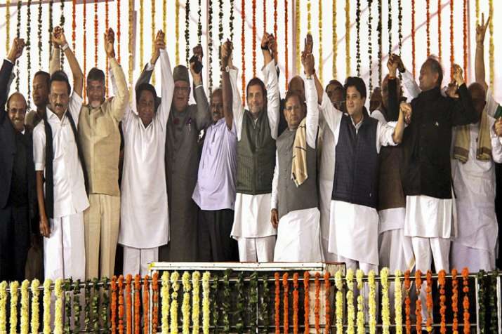 Congress CMs' swearing-in- India TV