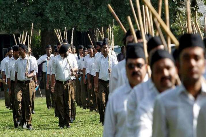 Congress demands to ban RSS Shakha in Parks- India TV