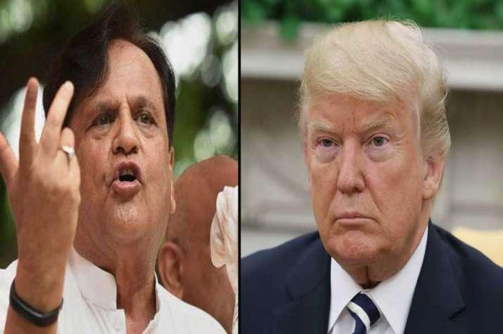 ahmed patel and donald trump- India TV