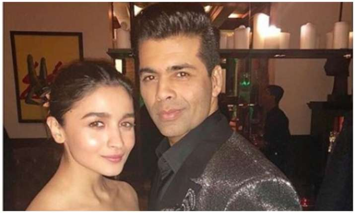 Alia Bhatt and karan johar- India TV