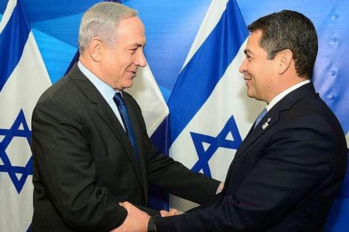 Benjamin Netanyahu, left, meeting with Juan Orlando Hernandez | GPO File- India TV