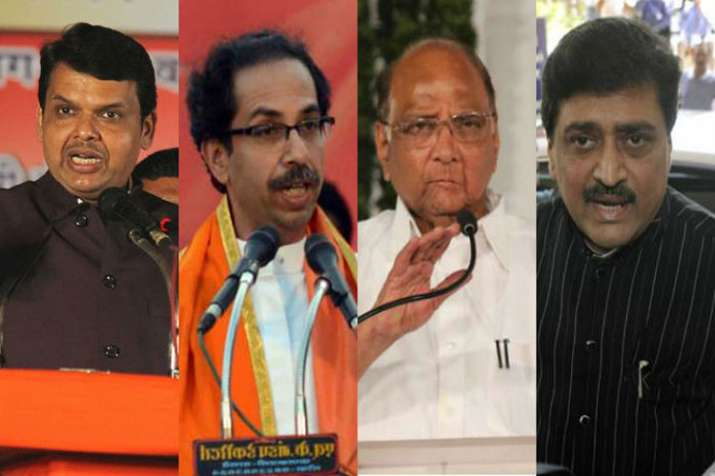 Vote Share of BJP, Congress, Shivsena and NCP during 2014 Lok Sabha Elections- India TV