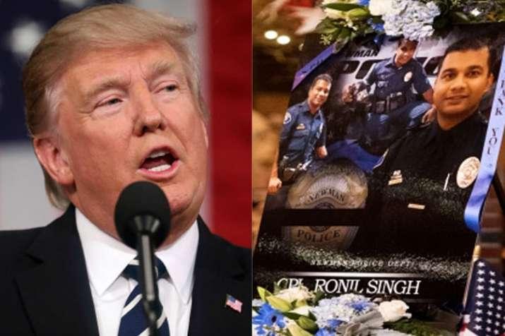 Donald Trump calls Indian-origin police officer Ronil Singh a 'national hero' | AP File- India TV