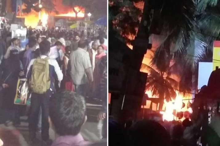 A fire has broken out in a stall at the All India...- India TV