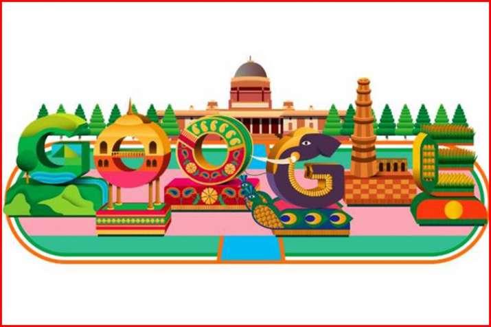 गूगल डूडल ने बिखेरे गणतंत्र दिवस के रंग- India TV
