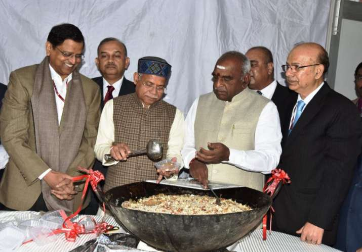 Halwa Ceremony held in North Block to mark the Ceremonial beginning of printing of Budget 2019 doc- India TV Paisa