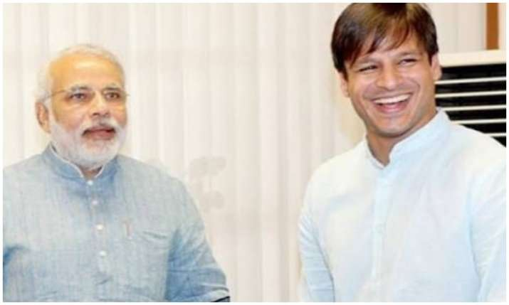 PM Narendra Modi and Vivek Oberoi- India TV