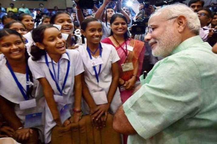 PM Narendra Modi with students | PTI File- India TV