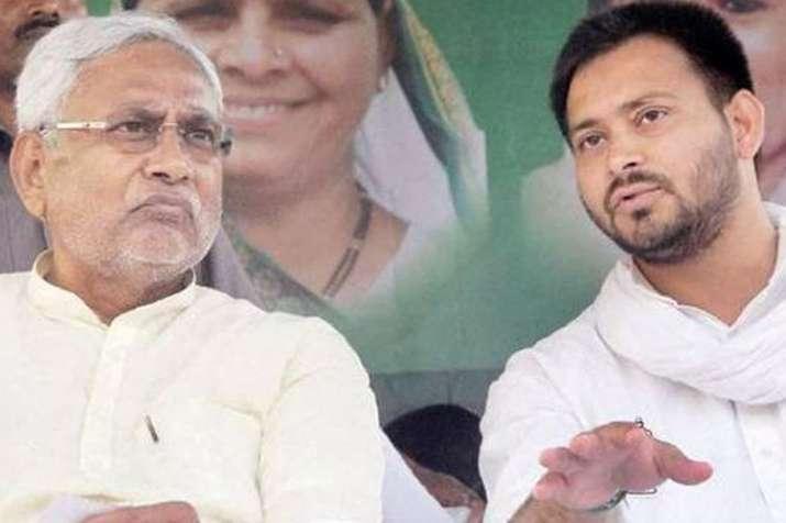 Nitish Kumar is Bhishma Pitamah of moral corruption, says RJD leader Tejashwi Yadav   PTI Photo- India TV