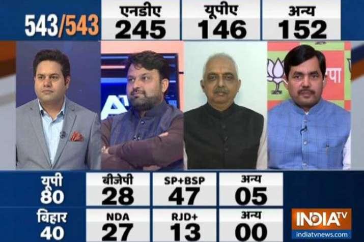 loksabha elections india tv cnx opinion poll- India TV