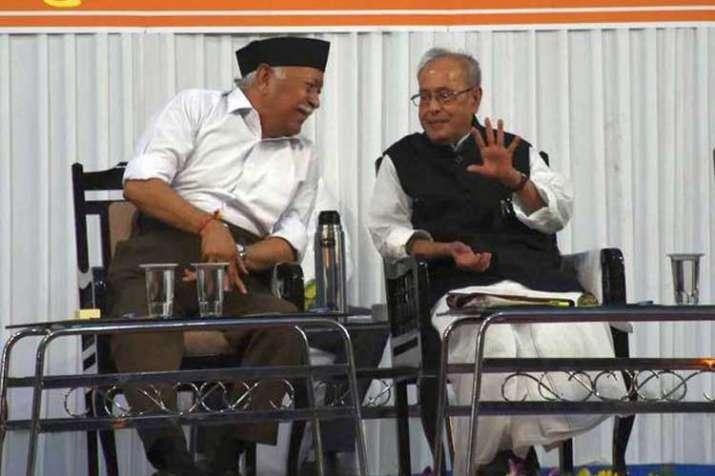 mohan bhagwat and pranab mukherjee- India TV