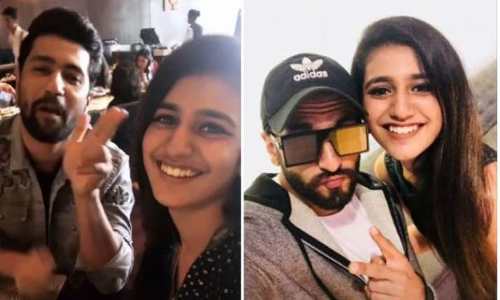 Priya Prakash Varrier selfie with Ranveer Singh and Vicky Kaushal went viral- India TV