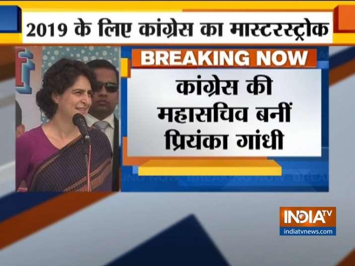 Priyanka Gandhi made Congress General Secretary ahead of Lok Sabha Polls- India TV