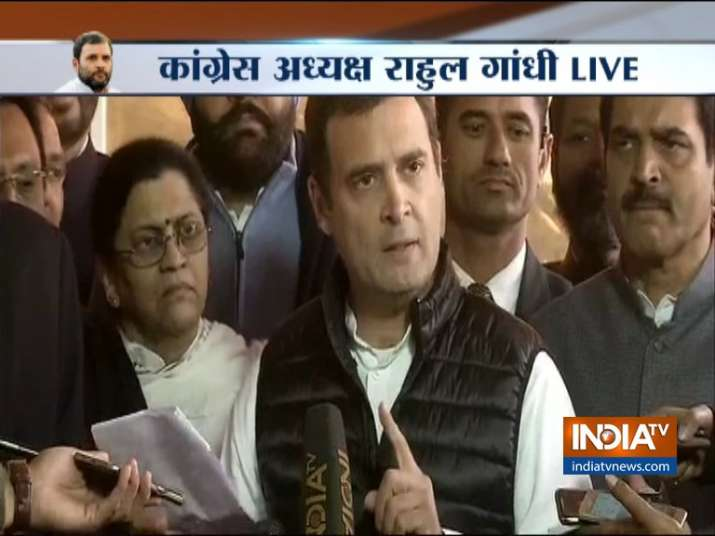 Rahul Gandhi again targets PM Modi and Defense Minister on Rafale Deal- India TV