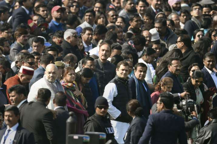 Rahul Gandhi gets front row seat at 70th Republic Day- India TV