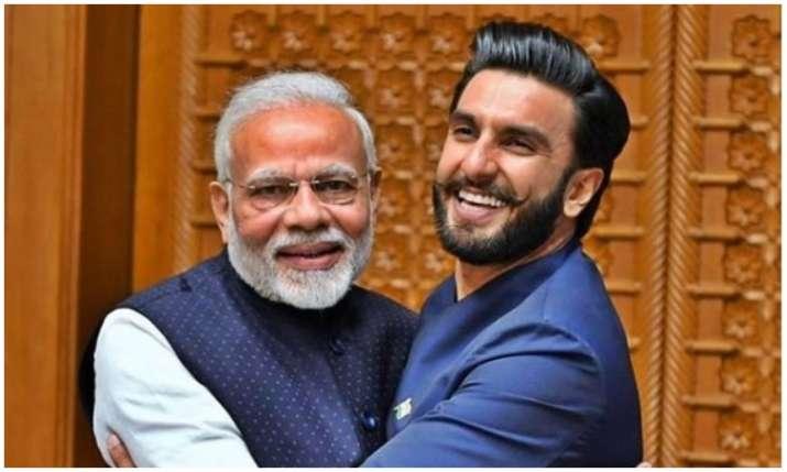 PM Narendra Modi and Ranveer singh- India TV